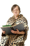 The old woman is reading a book Stock Photos