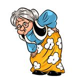 Old woman rheumatism cartoon Royalty Free Stock Photography