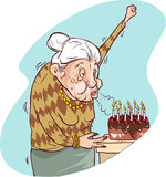 The old woman's birthday Royalty Free Stock Image