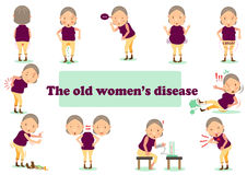Old woman's disease Stock Photography