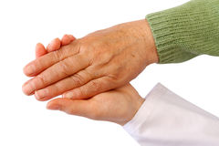 Old woman's hand Stock Photos