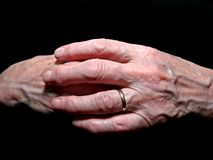 Old woman's hands Royalty Free Stock Photo