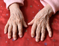 Old woman's hands Stock Photography