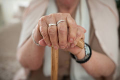 Old woman`s hands Royalty Free Stock Images