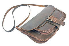 Old woman's leather bag Royalty Free Stock Images