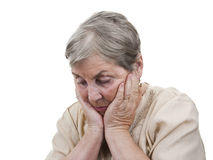 Elderly person woman sad isolated Stock Photography