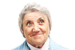 Old woman smile face. Grandmother Stock Image