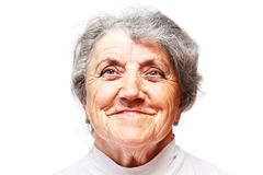 Old woman smile face Stock Images