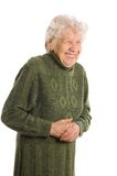 Old woman smiling Royalty Free Stock Image