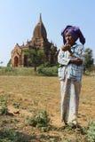 Old woman smoking,Myanmar Stock Photos