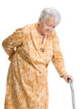 Old woman suffering from low back pain Royalty Free Stock Image
