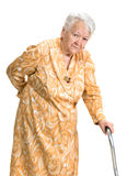Old woman suffering from low back pain Royalty Free Stock Photos