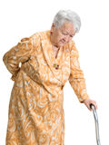 Old woman suffering from low back pain Stock Photos