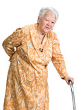 Old woman suffering from low back pain Royalty Free Stock Images