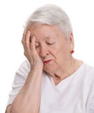 Old  woman suffering from pain Royalty Free Stock Image