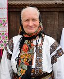 Senior Woman Traditional Costume in Romania