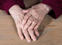 Old womans hands Stock Photography