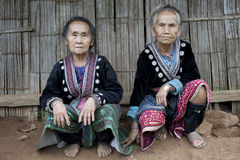 Old women in Asia, ethnic group Meo Royalty Free Stock Photography