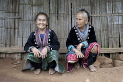 Old women in Asia, ethnic group Meo Stock Photo