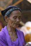 Old women faces Stock Photography