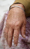 Old women hand Royalty Free Stock Photography