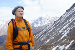 Old women in mountain Royalty Free Stock Photo