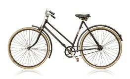 Old women`s bike. Isolated on white background Stock Images
