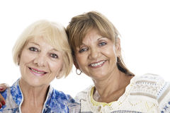 Old women smiling Royalty Free Stock Photos
