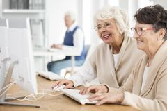 Old women smiling Stock Photos
