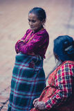 Old women talking in the street of Bhaktapur Royalty Free Stock Photography