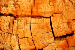 Old wood. Old cracked golden wood texture Royalty Free Stock Photo