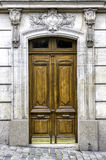 Old wood arch entry door Royalty Free Stock Photos