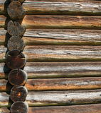Old wood background. Old wood wall background. Wall of ancient logs Royalty Free Stock Photos