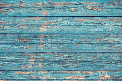 Old wood background. Blue paint Stock Photo