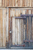 Old wood background with door Royalty Free Stock Images