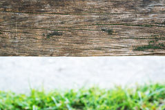 Old wood background drop shadow soft ligh Royalty Free Stock Photo