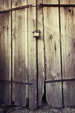 Old wood background with padlock Royalty Free Stock Photo