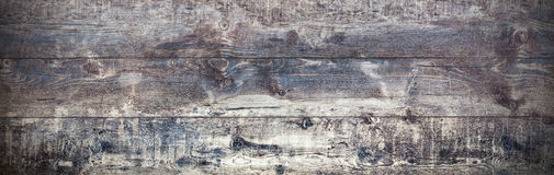 Old wood background, panoramic retro rustic boards. Royalty Free Stock Image