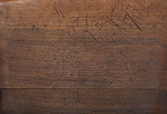 Old wood background with scratches Stock Image