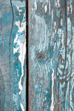 Old wood background. White and blue painted royalty free stock image