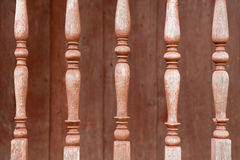 The old wood balusters Royalty Free Stock Images