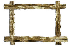 Old wood bark overlap frame Royalty Free Stock Images