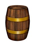Old wood barrel. Illustration on white background Stock Photos