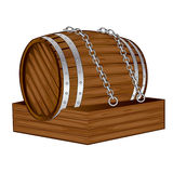 Old wood barrel Stock Photography
