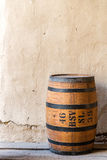Old wood barrel of gun powder Stock Images