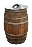 Old wood barrel isolated with clipping path Stock Photos