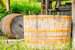 Old Wood Barrel Royalty Free Stock Photography