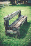 Old wood bench retro style Royalty Free Stock Photos
