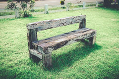 Old wood bench retro style Stock Photos