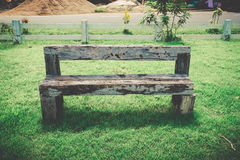 Old wood bench retro style Stock Images